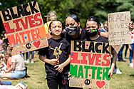 Tottenham's Kids walk against racism in support of Black Lives Matter. From Lordship Recreation Grounds to Downhills Park. London, 13 June 2020. (Photos/Ivan Gonzalez)