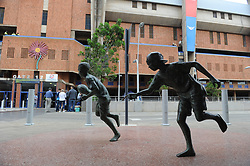 Pretoria, Loftus Versveld Stadium. 13-10-18 Currie Cup Rugby: Blue Bulls vs Western Province. Figurines of young boys in the stadium precint. <br /> Picture: Karen Sandison/African News Agency(ANA)