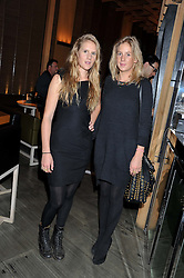 Left to right, sisters ANNA BOGLIONE and LARA BOGLIONE  at the Pig Business Fundraiser, Sake No Hana, St.James's, London on 26th September 2012.