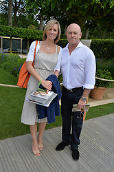 ROSS KEMP and his wife RENEE at the 2014 RHS Chelsea Flower Show held at the Royal Hospital Chelsea, London on 19th May 2014.