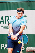 Denis Istomin (blr) during the Roland Garros French Tennis Open 2018, day 2, on May 28, 2018, at the Roland Garros Stadium in Paris, France - Photo Pierre Charlier / ProSportsImages / DPPI