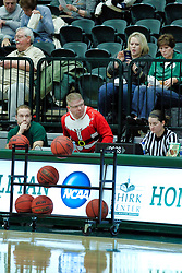 BLOOMINGTON, IL - December 15: IWU Women's basketball bench crew during a college women's basketball game between the IWU Titans  and the Carroll Pioneers on December 15 2018 at Shirk Center in Bloomington, IL. (Photo by Alan Look)