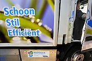 Nederland, Rotterdam, 22-09-2010Ecomobiel, beurs op het gebied van duurzame mobiliteit. Met auto's die rijden op waterstof, aardgas, biogas, en stroom.Vrachtwagen op waterstof, ook wel brandstofcel of fuelcel genoemd.Foto: Flip Franssen/Hollandse Hoogte