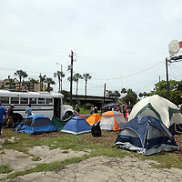 "A general overview of ""Camp Romney"" or Romneyville,  during the Republican National Convention in Tampa, Fla. on Wednesday, August 29, 2012. (AP Photo/Alex Menendez)"