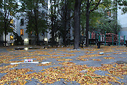 Bronx, NY Oct. 9 2013. Mt. Hope Park is littered with garbage. 10092013. Photo by Kayle Hope Schnell/NYCity Photo Wire