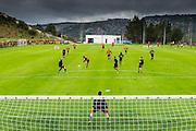 ESTEPONA - 04-01-2016, AZ in Spanje 4 januari, AZ speler Mounir El Hamdaoui scoort hier de 1-0, doelpunt