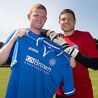 St Johnstone sign defender Brian Easton and goalkeeper Stevie Banks...08.07.13<br /> Picture by Graeme Hart.<br /> Copyright Perthshire Picture Agency<br /> Tel: 01738 623350  Mobile: 07990 594431