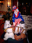 Uncle Sam and polar bear friends dressed in patriotic gear. Dundee Wisconsin USA