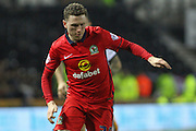 Blackburn Rovers midfielder Corry Evans on the attack during the Sky Bet Championship match between Derby County and Blackburn Rovers at the iPro Stadium, Derby, England on 24 February 2016. Photo by Aaron  Lupton.