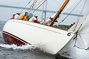 Sonny sailing in the Museum of Yachting Classic Yacht Regatta.