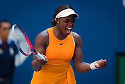 Sloane Stephens of the United States in action during her second-round match at the 2018 US Open Grand Slam tennis tournament, at Billie Jean King National Tennis Center in Flushing Meadow, New York, USA, August 29th 2018, Photo Rob Prange / SpainProSportsImages / DPPI / ProSportsImages / DPPI