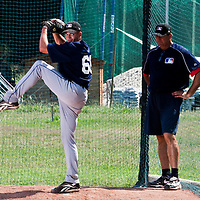 Baseball - MLB Academy - Tirrenia (Italy) - 19/08/2009 - Dylan Lindsay (South Africa), Bruce Hurst