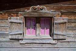 ROTTACH-EGERN, GERMANY - Wednesday, July 26, 2017: A window of a wooden building in Rottach-Egern, the base for Liverpool's preseason training camp in Germany. (Pic by David Rawcliffe/Propaganda)