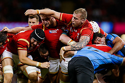 Wales replacement Tomas Francis and replacement Dominic Day in action at a maul - Mandatory byline: Rogan Thomson/JMP - 07966 386802 - 20/09/2015 - RUGBY UNION - Millennium Stadium - Cardiff, Wales - Wales v Uruguay - Rugby World Cup 2015 Pool A.