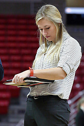 01 January 2017: Katie Ehlen during an NCAA Missouri Valley Conference Women's Basketball game between Illinois State University Redbirds the Braves of Bradley at Redbird Arena in Normal Illinois.