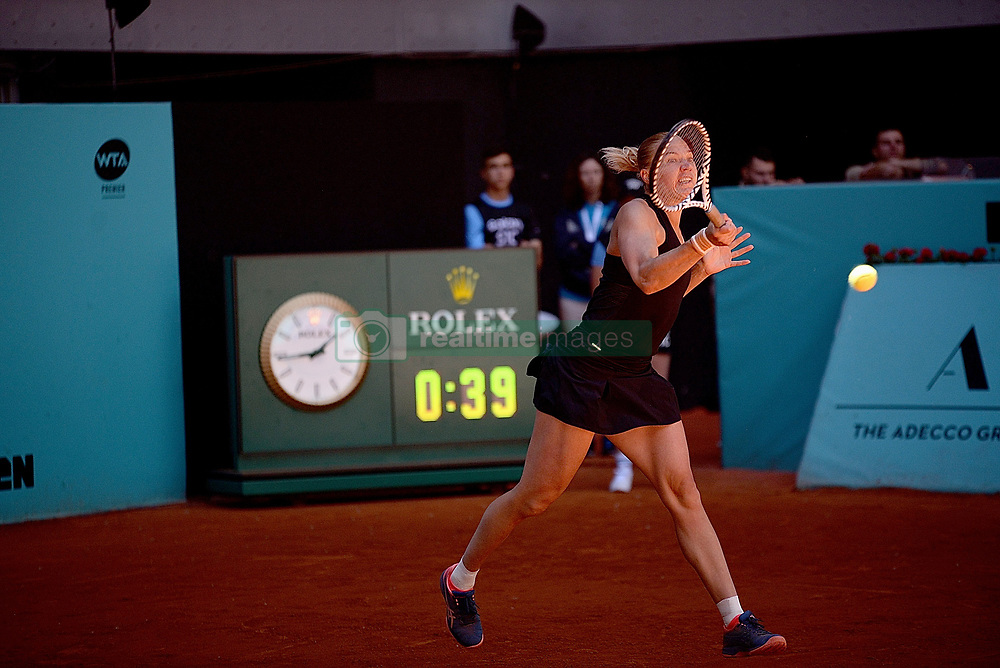 May 4, 2019 - Madrid, Spain - Kaia Kanepi (EST) in action against Kristyna Pliskova (CZE) during day one of the Mutua Madrid Open at La Caja Magica in Madrid on 4th May, 2019. (Credit Image: © Juan Carlos Lucas/NurPhoto via ZUMA Press)