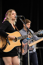 July 25, 2018 - Edmonton, Alberta, Canada - Canadian Country Music Recording artist Olivia Rose Leaf seen performing at Taste of Edmonton, located on the Alberta Legislature grounds. (Credit Image: © Ron Palmer/SOPA Images via ZUMA Wire)