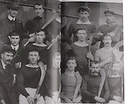 Wexford (Castlebridge)-All-Ireland Hurling Champions 1910. Back Row players only: Mike Parker, Andy Kehoe, Jack Leary, Sim Donohoe, Davy Kavanagh. Middle Row: Jem Fortune, Jem Doyle, John O'Kennedy (Co Sec), Mike Leary, Jem Conway. Front Row: Dick Fortune, Mike Cummins, Paddy Mackey, Richard Doyle (capt), Patsy Corcoran, Bill McHugh, Billy Devereaux and J Shortle (in suit and cap).