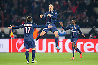 joie de Zlatan Ibrahimovic (Paris) apres son but