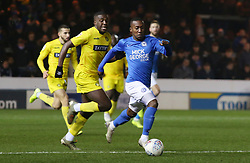 Siriki Dembele of Peterborough United in action with Nnamdi Ofoborh of Wycombe Wanderers - Mandatory by-line: Joe Dent/JMP - 21/01/2020 - FOOTBALL - Weston Homes Stadium - Peterborough, England - Peterborough United v Wycombe Wanderers - Sky Bet League One