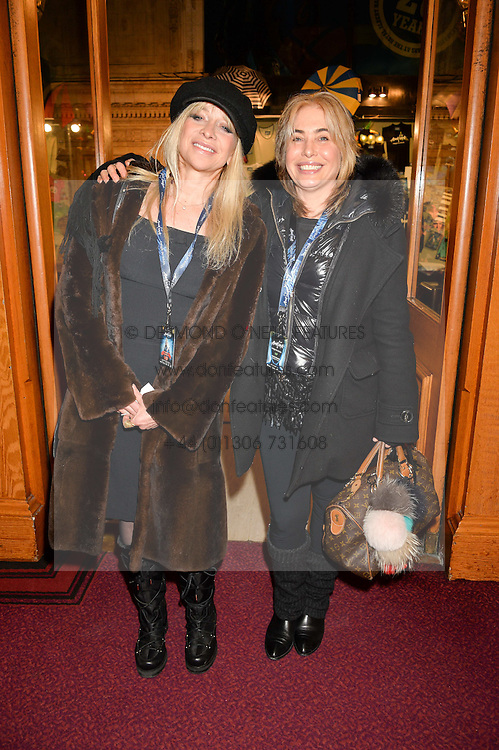 Left to right, JO WOOD and BRIX SMITH START at the opening night of Amaluna by Cirque Du Soleil at The Royal Albert Hall, London on 19th January 2016.