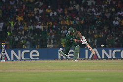 ©London News Pictures. 19/03/2011.Asad Safiq charges down the pitch & lofts one over the top at R.Premadasa Stadium Colombo Sri Lanka