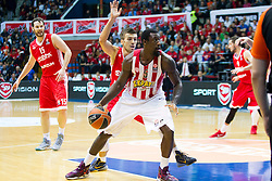 Othello Hunter of Olympiacos  during Euroleague basketball match in 6th Round of Group B between KK Cedevita Zagreb and Olympiacos Piraeus, on November 19, 2015, in Drazen Petrovic basketball hall, Zagreb, Croatia.