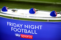 A general view of the Sky Sports Friday Night Football podium prior to the beginning of the Premier League match at London Stadium.