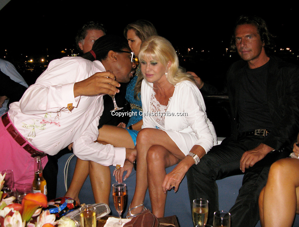 **EXCLUSIVE**.Jeffery Dread, Ivana Trump and new Boyfriend..Denise Rich Annual Summer Party..Lady Joy Yacht..Port of St Tropez..St Tropez, France..Thursday, July 30, 2009..Photo By Celebrityvibe.com.To license this image please call (212) 410 5354; or Email: celebrityvibe@gmail.com ; .website: www.celebrityvibe.com.
