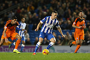 Brighton central midfielder, Andrew Crofts (8) on the ball during the Sky Bet Championship match between Brighton and Hove Albion and Ipswich Town at the American Express Community Stadium, Brighton and Hove, England on 29 December 2015. Photo by Phil Duncan.