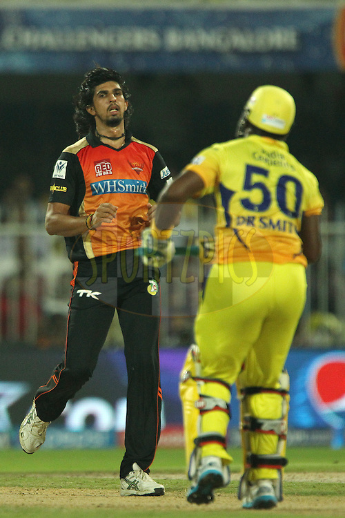 Ishant Sharma of the Sunrisers Hyderabad during match 17 of the Pepsi Indian Premier League 2014 between the Sunrisers Hyderabad and the Chennai Superkings held at the Sharjah Cricket Stadium, Sharjah, United Arab Emirates on the 27th April 2014<br /> <br /> Photo by Ron Gaunt / IPL / SPORTZPICS