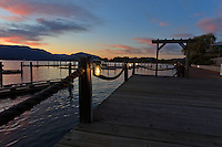 A beautiful and vibrant sunset as seen from the Marina Dock on Lake Okanagan at the Hotel Eldorado..©2011, Sean Phillips.http://www.RiverwoodPhotography.com