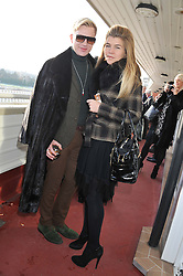 HENRY CONWAY and AMBER NUTTALL at the 2012 Hennessy Gold Cup at Newbury Racecourse, Berkshire on 1st December 2012