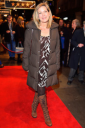 © Licensed to London News Pictures. 16/02/2016. PENNY SMITH arrives for the press night of Mrs Henderson Presents press night at the Noel Coward Theatre. London, UK. Photo credit: Ray Tang/LNP