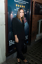 Myleene Klass attends the Beginning press night at the Ambassadors Theatre, London. Picture date: Tuesday 23rd January 2018.  Photo credit should read:  David Jensen/ EMPICS Entertainment