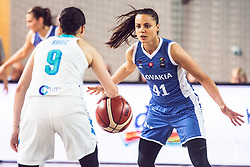 Barbora Balintova of Slovakia vs Nika Baric of Slovenia during Women's Basketball - Slovenia vs Slovaska on the 14th of June 2019, Dvorana Poden, Skofja Loka, Slovenia. Photo by Matic Ritonja / Sportida
