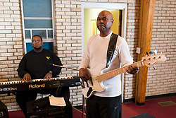 Bassist Paul Bennett practiced with the Men's Choir at First Gethsemane Baptist Church in Louisville, Thursday, Feb. 11, 2016 <br /> <br /> Paul Bennett was getting into his car, Sept. 21, 2015, on Spring Street in Jeffersonville when a motorist struck him, leaving him bloody and broken at the scene. Fortunately, Bennett was with a friend who was able to call for help and describe the car. The driver was caught a few days later, but Bennett&rsquo;s journey to healing was just beginning.<br /> <br /> Bennett was taken to a Louisville hospital emergency room with a concussion, three broken vertebrae in his neck and multiple cracked ribs. His head required 27 stitches. <br /> <br /> &ldquo;I give all my thanks to the Lord Jesus Christ,&rdquo; he says. &ldquo;He took care of me that day.&rdquo; <br /> Bennett remained in the hospital for five days, before being transferred to Southern Indiana Rehab Hospital for an additional five days. <br /> <br /> During his stay, Bennett&rsquo;s therapists helped him ease back into the tasks of daily living to ensure a smooth transition at home. They took him through what he called &ldquo;rehab workshops&rdquo; &ndash; occupational therapy stations set up like areas of a home, where Bennett was asked to complete activities like going up and down stairs and getting in and out of a bathtub. <br /> <br /> Once he was able to complete those tasks, he was cleared to go home. Therapists also worked with him to increase his flexibility and muscle strength. <br /> <br /> Bennett says he continued to experience quite a bit of pain and soreness for several months following the accident.
