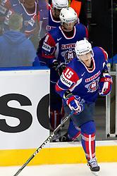 Blaz Gregorc of Slovenia during ice-hockey match between Slovakia and Slovenia of Group A of IIHF 2011 World Championship Slovakia, on April 29, 2011 in Orange Arena, Bratislava, Slovakia. Slovakia defeated Slovenia 3-1. (Photo By Vid Ponikvar / Sportida.com)