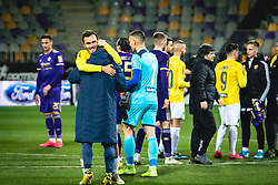 Players of Bravo celebrating their win after football match between NK Maribor and NK Bravo in 25th Round of Prva liga Telekom Slovenije 2019/20, on March 7, 2020 in Ljudski vrt, Maribor, Slovenia. Photo by Blaž Weindorfer / Sportida