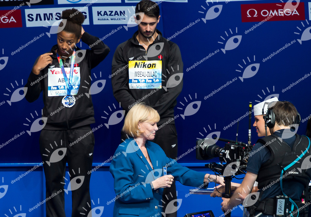 Medal Ceremony with FINA delegates<br /> Diving - Mixed 3m Synchro springboard final<br /> Day 10 02/08/2015<br /> XVI FINA World Championships Aquatics Swimming<br /> Kazan Tatarstan RUS July 24 - Aug. 9 2015 <br /> Photo Giorgio Perottino/Deepbluemedia/Insidefoto