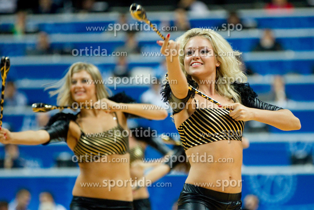 Cheerleaders Red Foxes during basketball game between National basketball teams of  Georgia and Former Yugoslav Republic of Macedonia at FIBA Europe Eurobasket Lithuania 2011, on September 8, 2011, in Siemens Arena,  Vilnius, Lithuania. (Photo by Vid Ponikvar / Sportida)