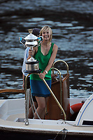 Melbourne Australian Open 2008 26/01/2008<br /> Maria Sharapova (RUS)  takes the  trophy home  on a Water Taxi on the River Yarra after she wins Ladies  Singles<br /> Photo Roger Parker Fotosports International