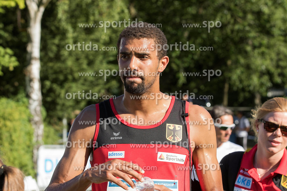 01.07.2015, Olympiapark, Berlin, GER, Moderner Fünfkampf WM, im Bild Patrick Dogue, Potsdam // during Mens relay race of the the world championship of Modern Pentathlon at the Olympiapark in Berlin, Germany on 2015/07/01. EXPA Pictures © 2015, PhotoCredit: EXPA/ Eibner-Pressefoto/ Kleindl<br /> <br /> *****ATTENTION - OUT of GER*****
