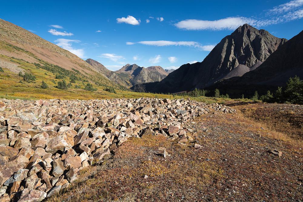 Subalpine basin in Colorado's Weminuche Wilderness.