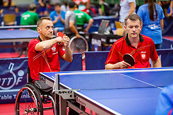 (Team POL) NALEPKA Maciej and CZERWINSKI Mariusz in action during 15th Slovenia Open - Thermana Lasko 2018 Table Tennis for the Disabled, on May 11, 2018 in Dvorana Tri Lilije, Lasko, Slovenia. Photo by Ziga Zupan / Sportida