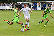 Forest Green Rovers Omar Bugiel(11) shoots at goal during the Pre-Season Friendly match between Brimscombe and Thrupp and Forest Green Rovers at the Meadow, Brimscombe, United Kingdom on 15 July 2017. Photo by Shane Healey.