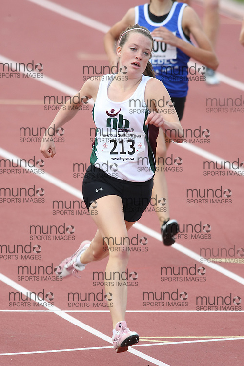 (Sherbrooke, Quebec---10 August 2008) Morgan Hawkes competing in the 400m at the 2008 Canadian National Youth and Royal Canadian Legion Track and Field Championships in Sherbrooke, Quebec. The photograph is copyright Sean Burges/Mundo Sport Images, 2008. More information can be found at www.msievents.com.