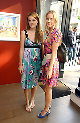 Left to right, SOPHIE GROVE and WILLOW CORBETT-WINDER at a private view of artist Damian Elwes work 'Artists Studios' held at Scream, 34 Bruton Street, London W1 on 29th June 2006.<br /><br />NON EXCLUSIVE - WORLD RIGHTS