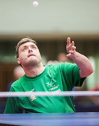 Primoz Kancler of Slovenia in action during 15th Slovenia Open - Thermana Lasko 2018 Table Tennis for the Disabled, on May 9, 2018, in Dvorana Tri Lilije, Lasko, Slovenia. Photo by Vid Ponikvar / Sportida