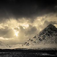 Winter sun over Glen Etive